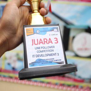 Juara 3 Line Follower IBI Darmajaya Lampung