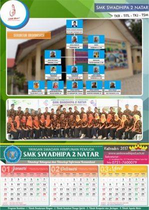 Kalender 2017 SMK Swadhipa 2 Natar