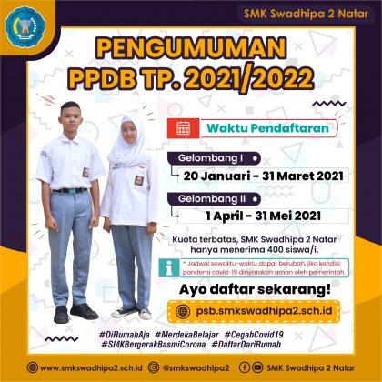 Pendaftaran Siswa Baru SMK Swadhipa 2 Natar TP 2021/2022 Sudah Dibuka!