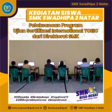Pelaksanaan Program Ujian Sertifikasi International TOEIC dari Direktorat SMK
